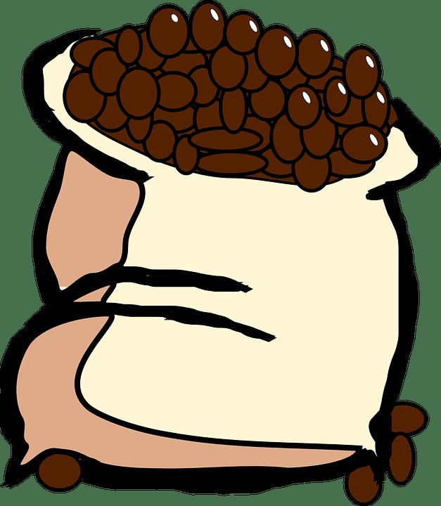 Borsa, Chicchi Di Caffè, Fagioli, Caffè, Cibo, Sacco