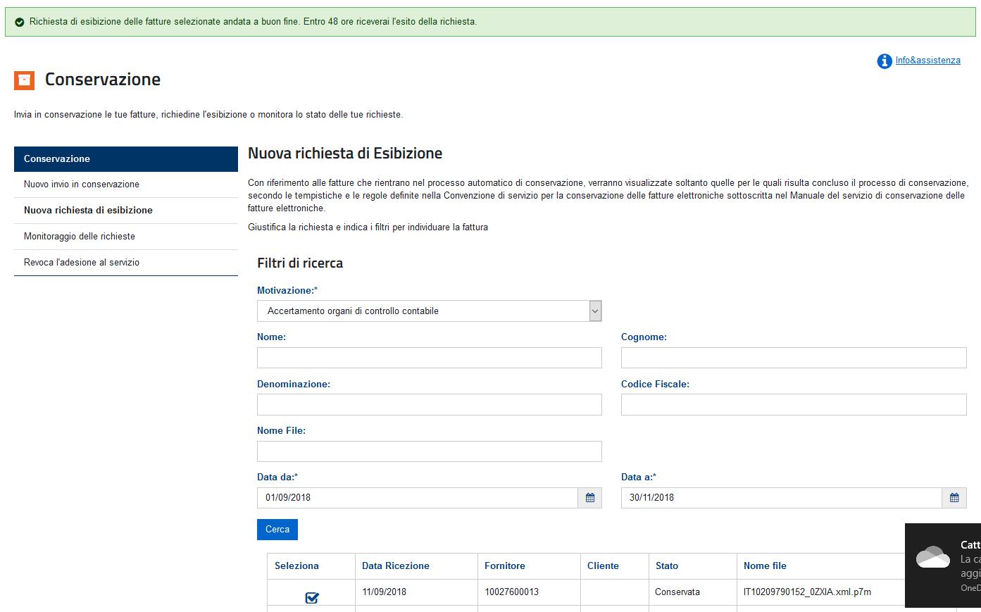 C:UserslucaAppDataLocalMicrosoftWindowsINetCacheContent.WordRichiesta a buon fine.png