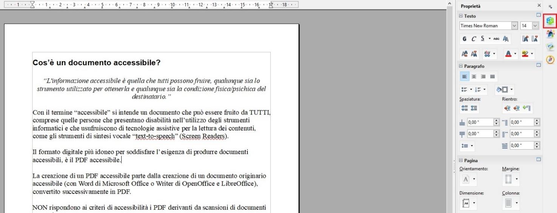 Questa immagine mostra come utilizzare gli stili (di elenco) per le liste con OpenOffice Writer