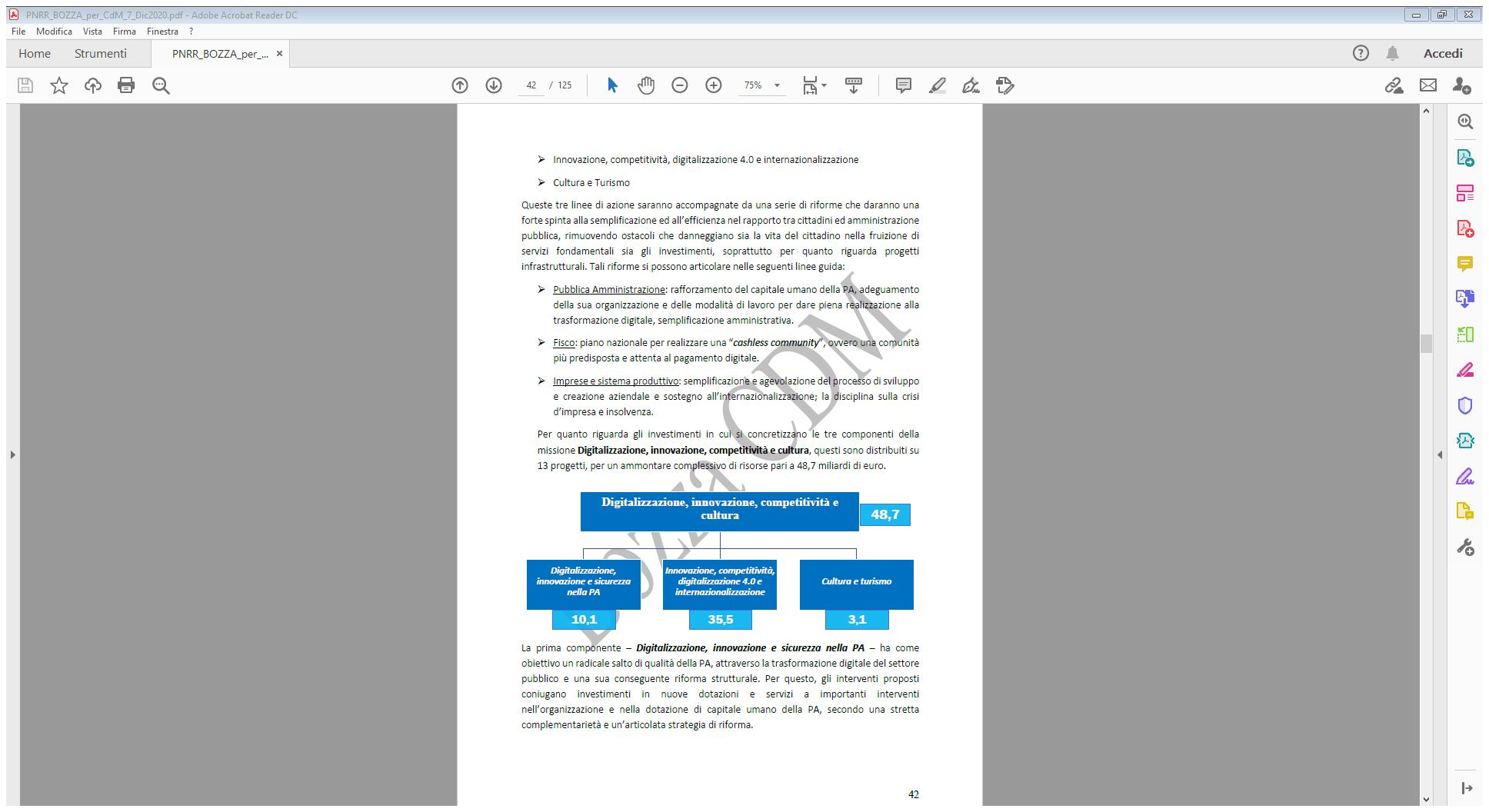 PNRR_BOZZA_per_CdM_7_Dic2020.pdf - Adobe Acrobat Reader DC